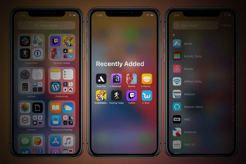 Organise your apps
