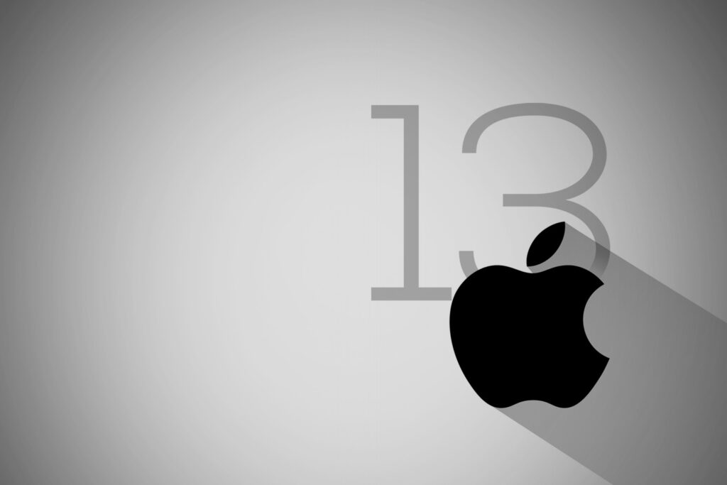 iPhone 12 is here | Apple logo with the 13 number representing the event date